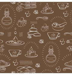 Spa themed seamless pattern with accessory vector