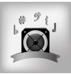 Speaker music sound vector