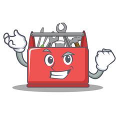 Successful tool box character cartoon vector