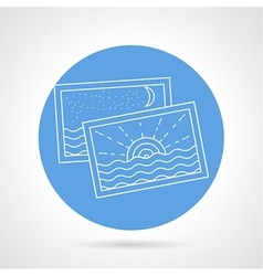 Summertime photos white line icon vector image