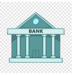 Swiss bank icon cartoon style vector