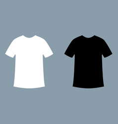 t-shirt mockup white and black vector image
