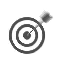 Target with dart gray icon shaked at vector