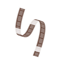 the film strip with blank frames curls and twists vector image