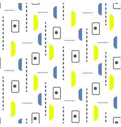Tiny retro shapes seamless pattern vector