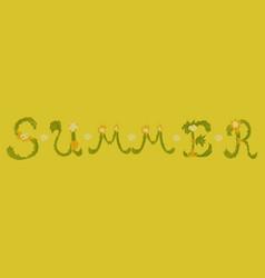 trendy summer tropical design vector image