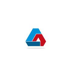 Triangle shape colored circle logo vector