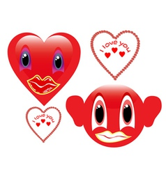 two red smiley vector image