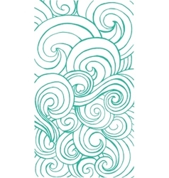 Vertical curly waves pattern for app or web design vector