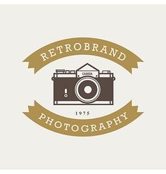 Vintage hipster badges and labels vector image