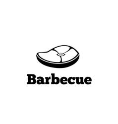 Vintage retro bbq logo vector