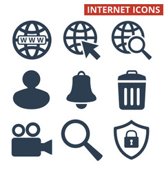 web icons set on white background vector image