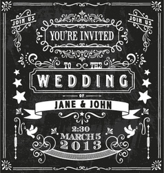 Wedding Invitation Elements vector