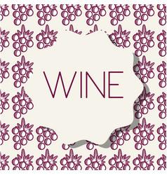 Wine grape fruit background vector