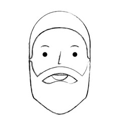 Young man with beard avatar character vector
