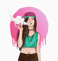vape swag girl vector image vector image