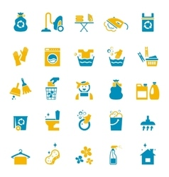 Washing and cleaning icons vector image