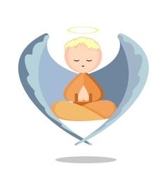 Angel Meditation vector image