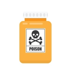 Bottle of poison icon vector image vector image