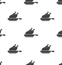 chicken grill seamless pattern vector image vector image