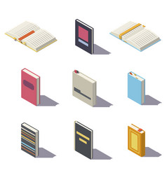 Low poly book vector