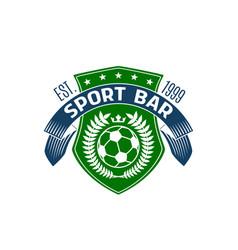 soccer bar or football sport pub icon vector image