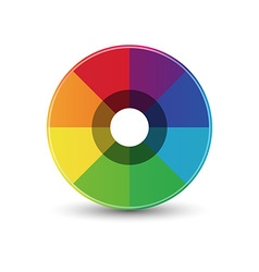 Abstract rainbow circle icon vector image