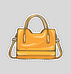 Ladies handbag with handle and clips isolated vector