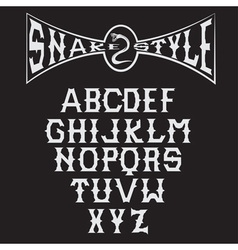 snake style gothic alphabet vector image vector image