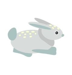 Cute blue bunny vector image vector image
