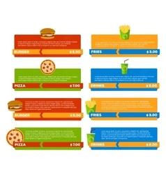 Fast Food Menu Banners vector image