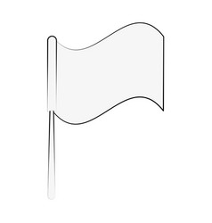 flag isolated symbol vector image vector image