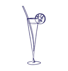 image of a cocktail in a glass vector image