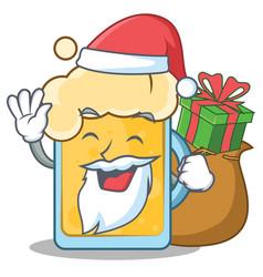 Santa beer character cartoon style vector