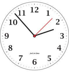 tick tock vector image
