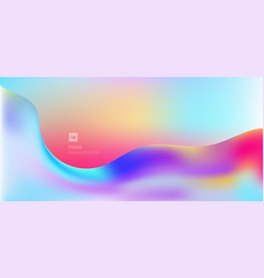 abstract modern fluid wave shape colorful flowing vector image