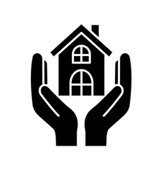 Affordable housing glyph icon vector