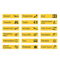 Airport sign set vector