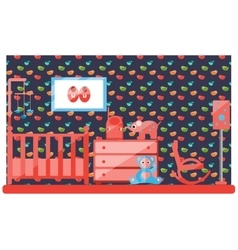 Baby room vector