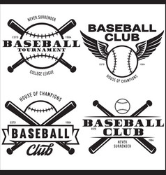 baseball labels badges logos set national vector image