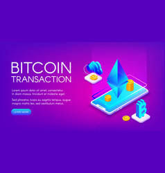 bitcoin transaction vector image