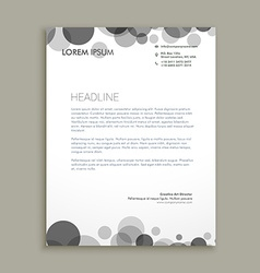 Black dots corporate letterhead design vector