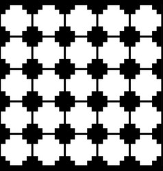 Blocky monochrome pattern with squares seamlessly vector