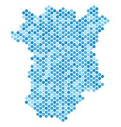 Blue dot chechnya map vector