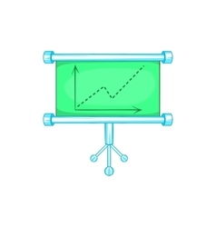 Board with statistics icon cartoon style vector
