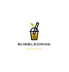 bubble drink tea logo icon vector image
