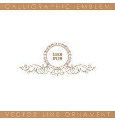 Calligraphic luxury logo emblem elegant decor vector
