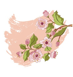 Colored Sketch of Sakura Branch3 vector image
