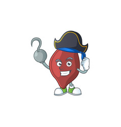 cool pirate liver cartoon design style with vector image