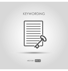 Copywriting icon Keywording in linear style vector image